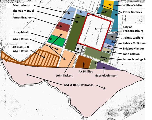 Caldwell Tract Land Ownership circa 1860-1862