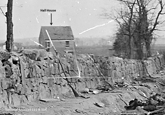 Enlargement of the Stone Wall highlighting the Hall house.