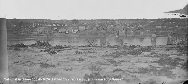Andrew J Russell photograph titled 'Fredericksburg, from near Lacy House'