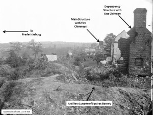Confederate Works on Marye's Heights. National Archives 111-B-134.
