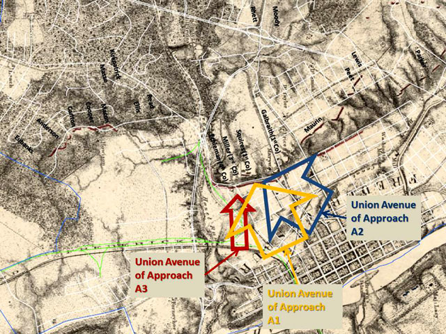 Union Avenues of Approach during the Battle of Fredericksburg