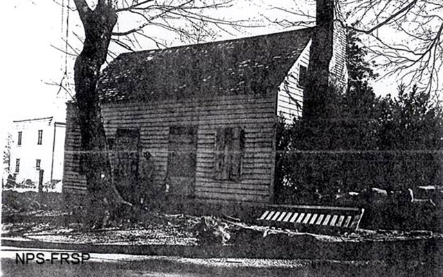 1957 photo of the Ebert house not long before it was torn down.