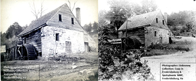 Two photographs of Howison's mill